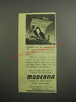 1948 Moderna Blankets Ad - There are no restrictions on travel