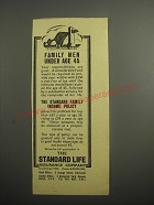 1948 Standard Life Assurance Ad - Family men under age 45