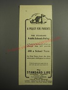 1948 Standard Life Assurance Ad - A policy for parents