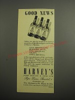 1948 Harvey's Sherry Ad - Good News