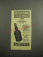 1948 Queen Anne Scotch Whisky Ad - Rare in quality exquisite in style