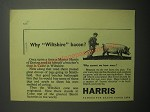 1948 Harris Bacon Ad - Why Wiltshire bacon?