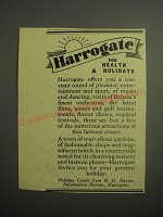 1948 Harrogate Tourism Ad - Harrogate for Health & Holidays