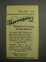 1948 Harrogate Tourism Ad - Harrogate Britain's premier inland resort
