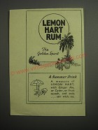 1948 Lemon Hart Rum Ad - The Golden Spirit