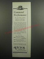 1937 Victor Records and Phonograph-radios Ad - Command performance