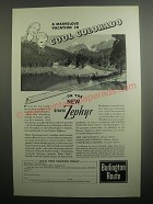 1937 Burlington Route Railroad Ad - A marvelous vacation in cool Colorado