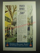1937 Sherwin-Williams Paints Ad - Proud homes painted with SWP