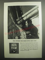 1937 Agfa Film Ad - This picture was made with Agfa film
