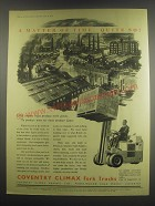 1949 Coventry Climax Fork Trucks Ad - A matter of time. Quite So!