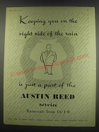 1949 Austin Reed Fashion Ad - Keeping you on the right side of the rain
