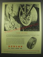 1949 Dunlop Tires Ad - Turnspit Dog's Wheel