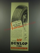 1949 Dunlop Tires Ad - Mouded knife cuts step up skid resistance