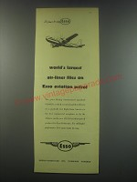 1949 Esso Aviation Petrol Ad - World's largest air-liner flies on Esso