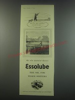 1949 Esso Essolube Oil Ad - The wise shot remembers to break his gun