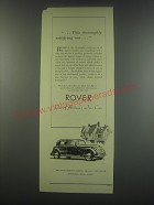 1949 Rover 75 Car Ad - This thoroughly satisfying car