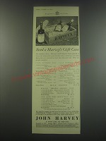 1949 Harvey's Sherry Ad - Send a Harvey's gift case