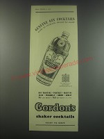 1949 Gordon's Shaker Cocktails Ad - Genuine gin cocktails made as cocktails
