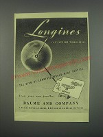 1949 Longines Watches Ad - Longines the supreme timekeeper
