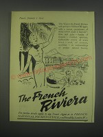 1949 French National Tourist Office Ad - The French Riviera