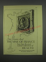 1949 French National Tourist Office Ad - From Roman days the spas of France