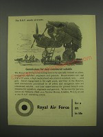 1949 Royal Air Force Ad - Commissions for men considered suitable