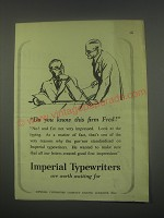 1949 Imperial Typewriters Ad - Do you know this firm Fred?