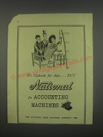 1949 NCR National Accounting Machines Ad - It's Clydeside for ships