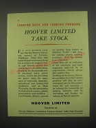 1949 Hoover Limited Ad - Looking back and looking forward