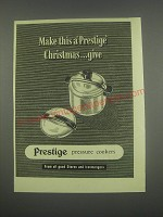 1949 Prestige Pressure Cookers Ad - Make this a Prestige Christmas