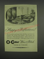 1949 O-Cedar Wax polish Ad - Happy reflections