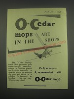 1949 O-Cedar Mops Ad - O-Cedar mops are in the shops