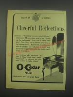 1949 O-Cedar Polish Ad - Diary of a duster cheerful reflections