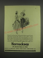1949 Horrockses Linens Ad - From the earliest days of domestic history