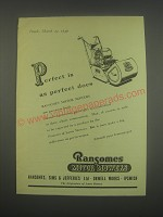 1949 Ransomes Motor Mowers Ad - Perfect is as perfect does