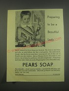 1949 Pears Soap Ad - to be a beautiful lady