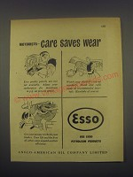 1949 Esso Oil Ad - Motorists - care saves wear