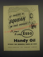1949 Esso Handy Oil Ad - Is there a squeak in the house?