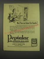 1949 Cow & Gate Peptalac Ad - No! I've no time for lunch
