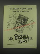 1949 Crosse & Blackwell Tomato Soup Ad - The really good soups