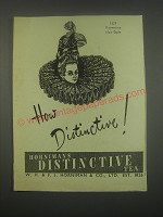 1949 Hornimans Distinctive Tea Ad - 1629 Florentine Hair Style