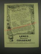 1949 Oxo Lemco Consomme Ad - recipe for Aspic jelly