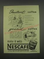 1949 Nestle's Nescafe Coffee Ad - Instant Coffee Grand coffee