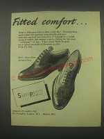 1949 Simpson Shoes Ad - Fitted comfort