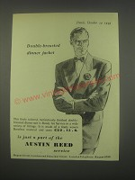 1949 Austin Reed Double-Breasted Dinner Jacket Ad
