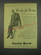 1949 Austin Reed Fashion Ad - Ready for service