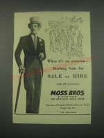 1949 Moss Bros Morning Suits Ad - When it's an occasion