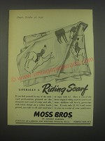 1949 Moss Bros Riding Scarf Ad - Literally a riding scarf