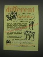 1949 English Rose Kitchen Furnishings Ad - Different