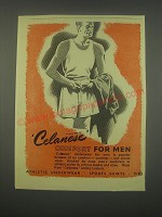 1949 Celanese Underwear Ad - Celanese Comfort for men